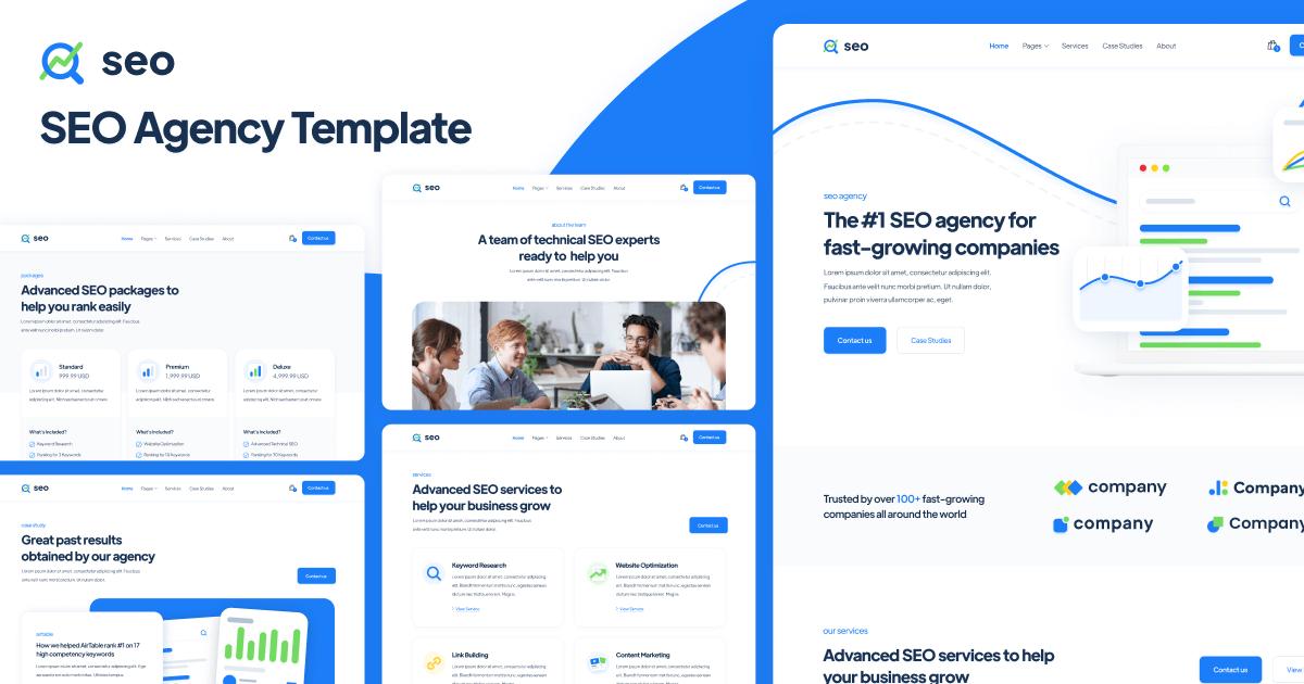 SEO Agency Webflow Template