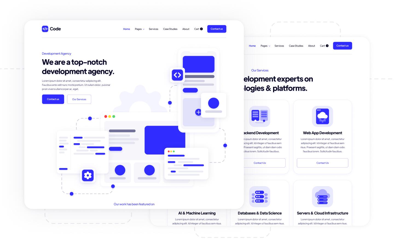 Code Agency Webflow Template