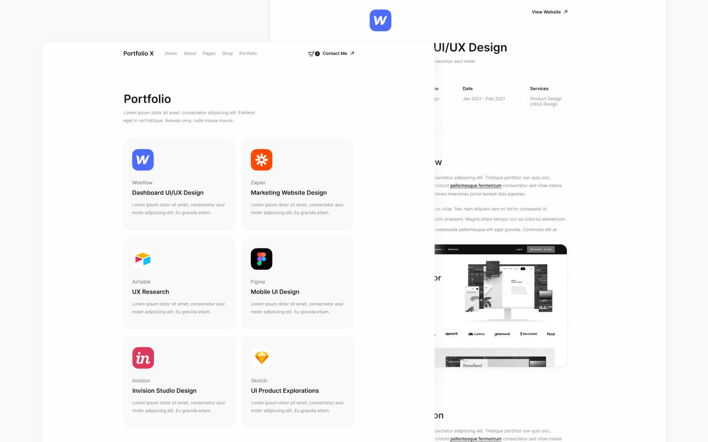 Webflow Template Portfolio