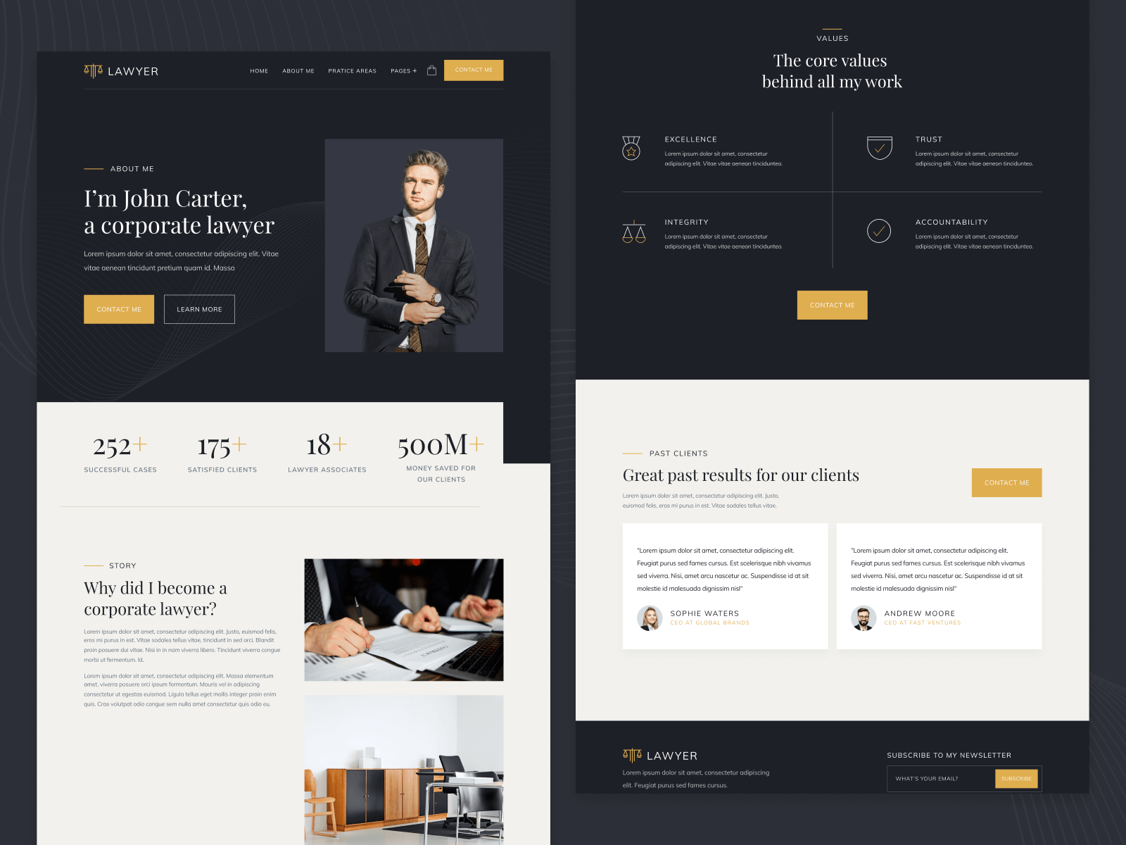 Law Firm & Lawyer Webflow Template