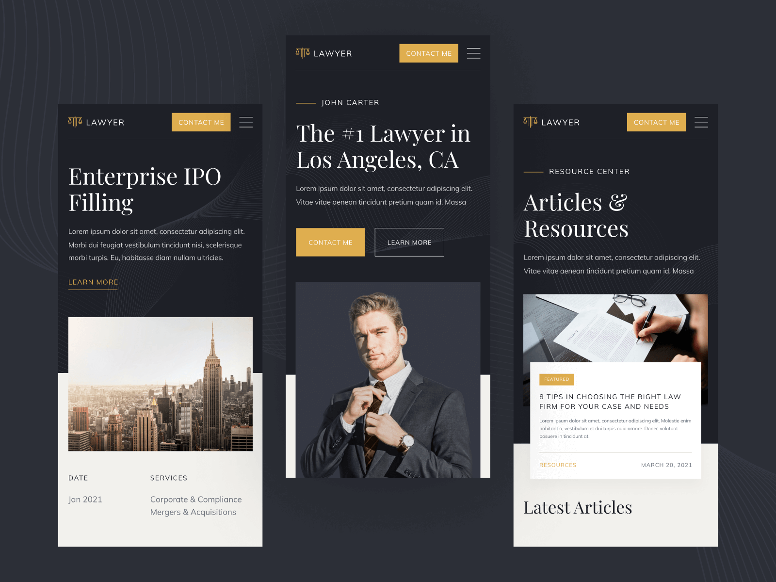 Lawyer Webflow Website Template