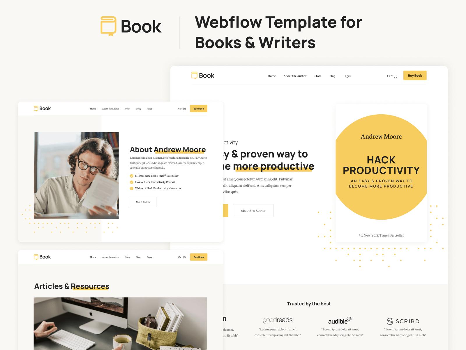 Book Webflow Template