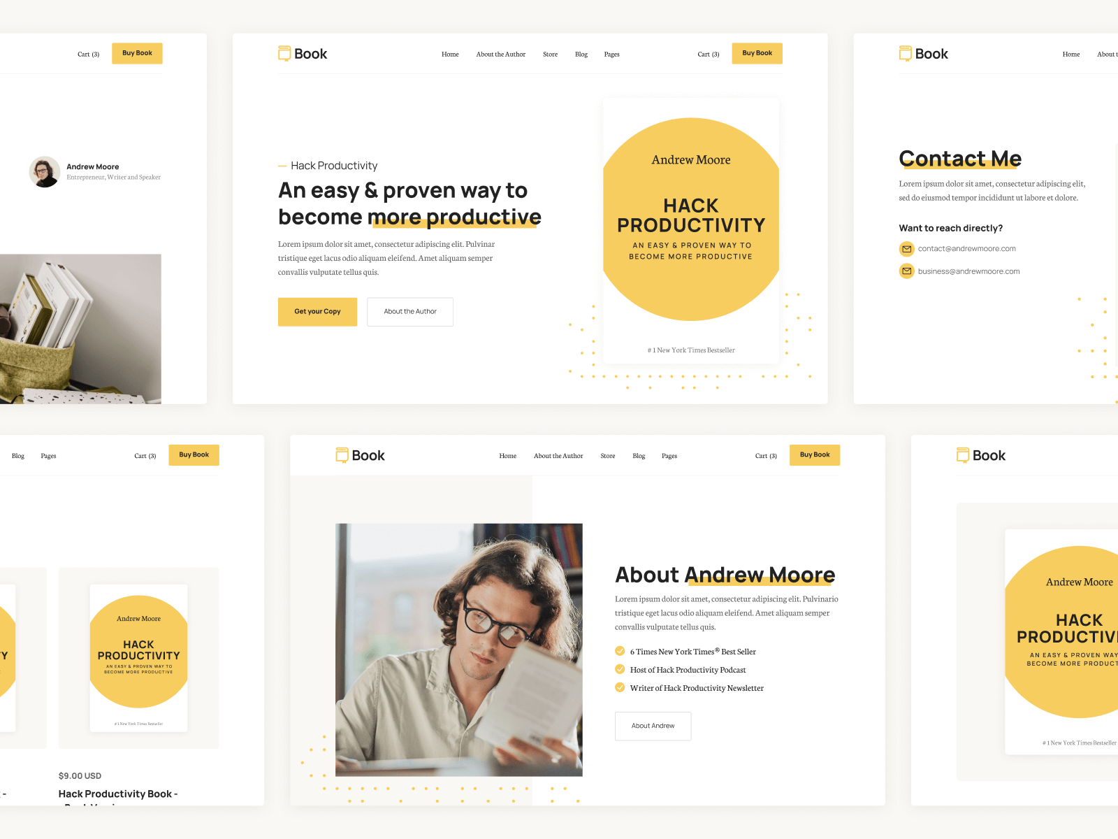 Book Author Webflow Template