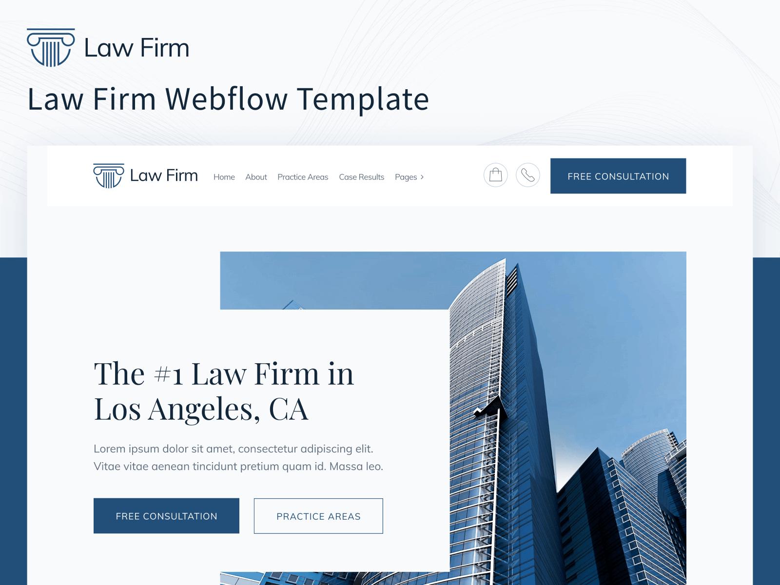 Law Firm Webflow Template
