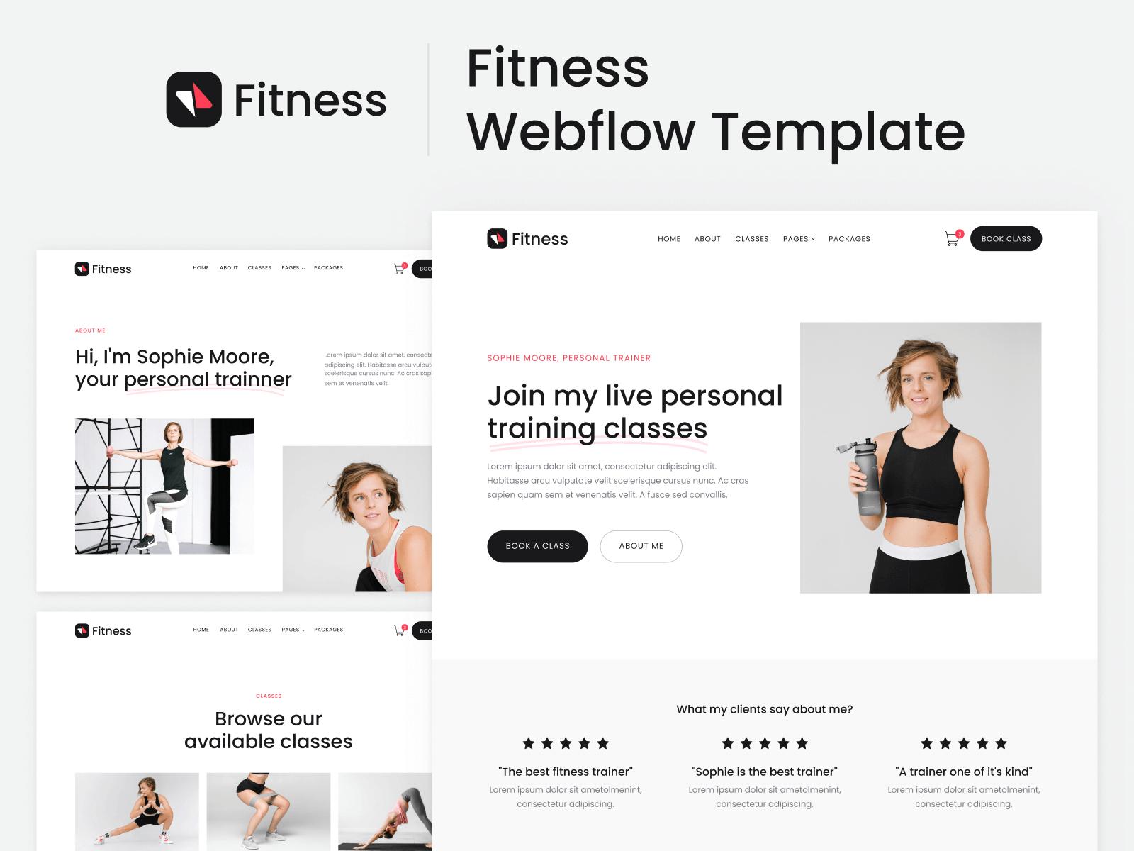 Fitness Webflow Template