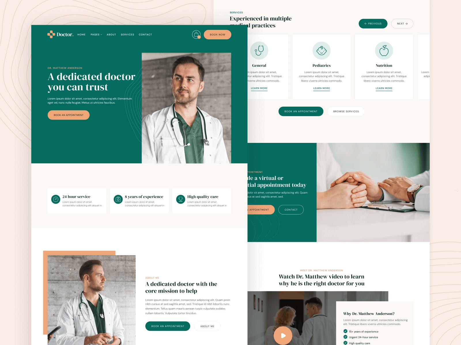 Doctor Medical Webflow Template