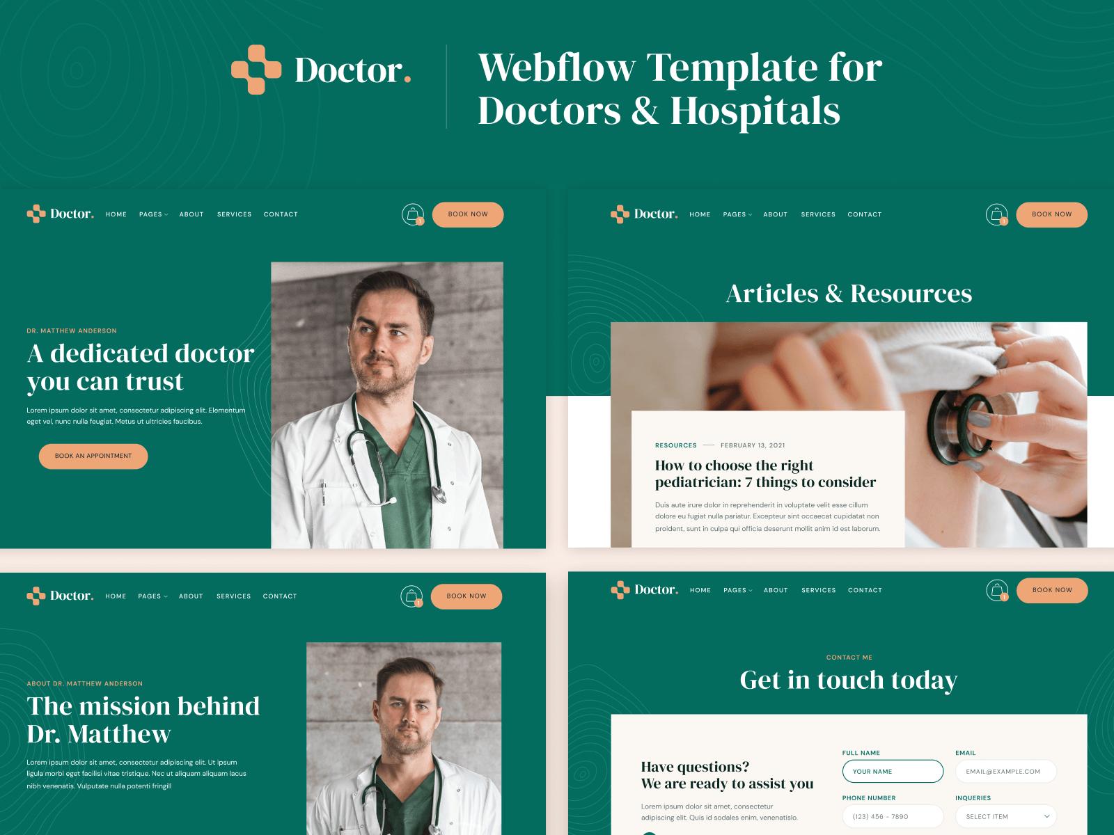 Doctor Webflow Template