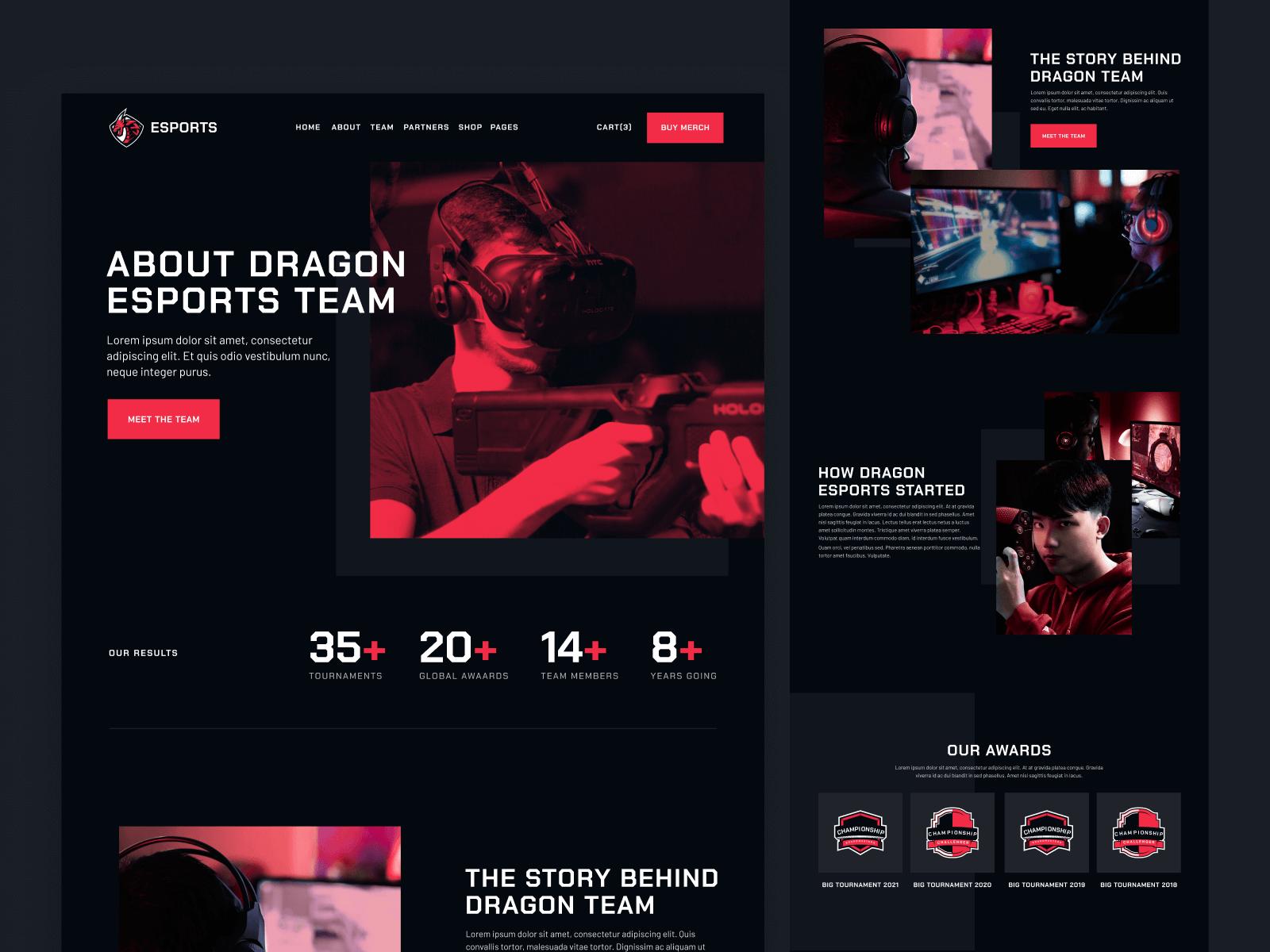 eSports Team Webflow Template