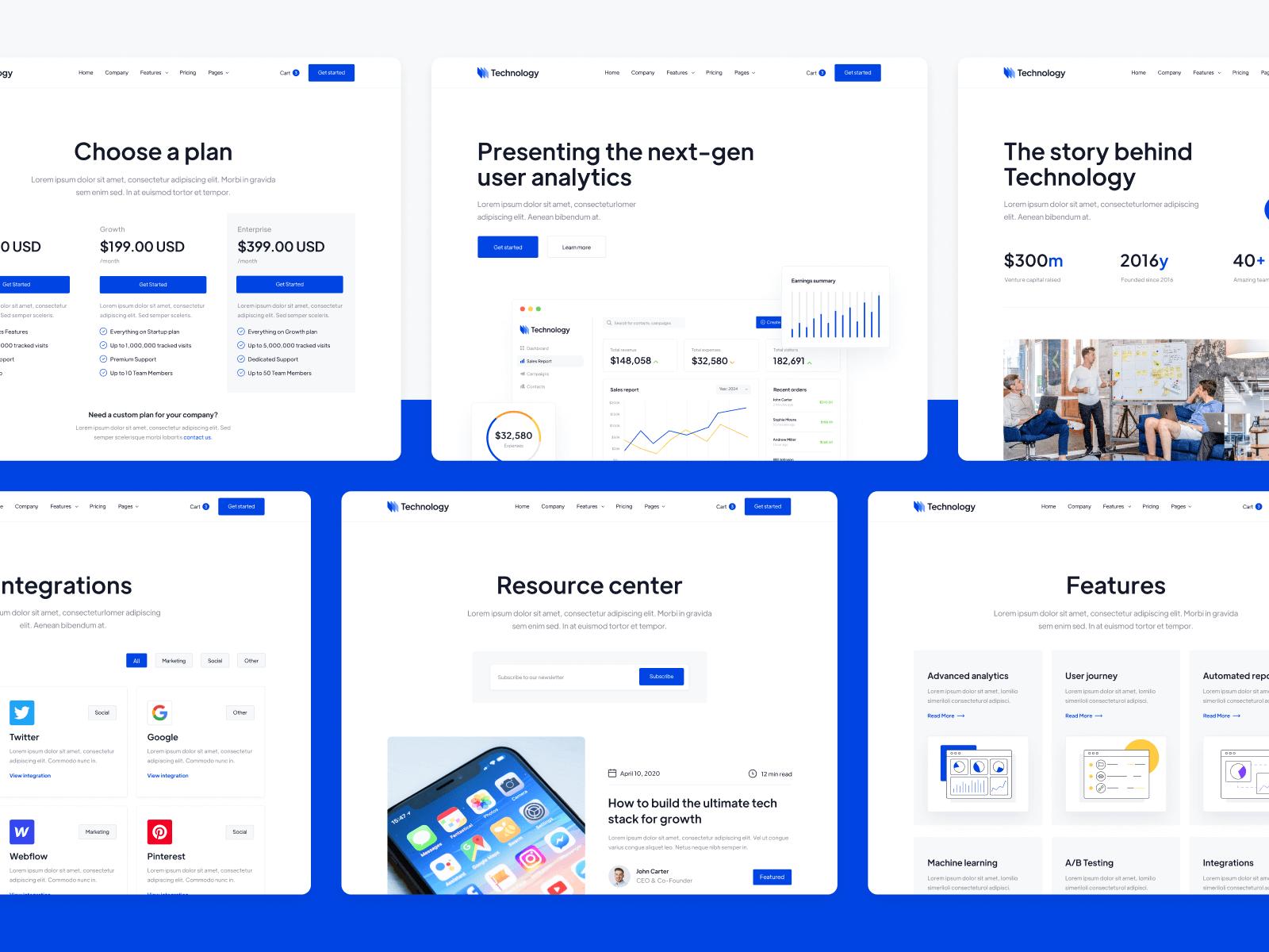 Technology Startup Webflow Theme