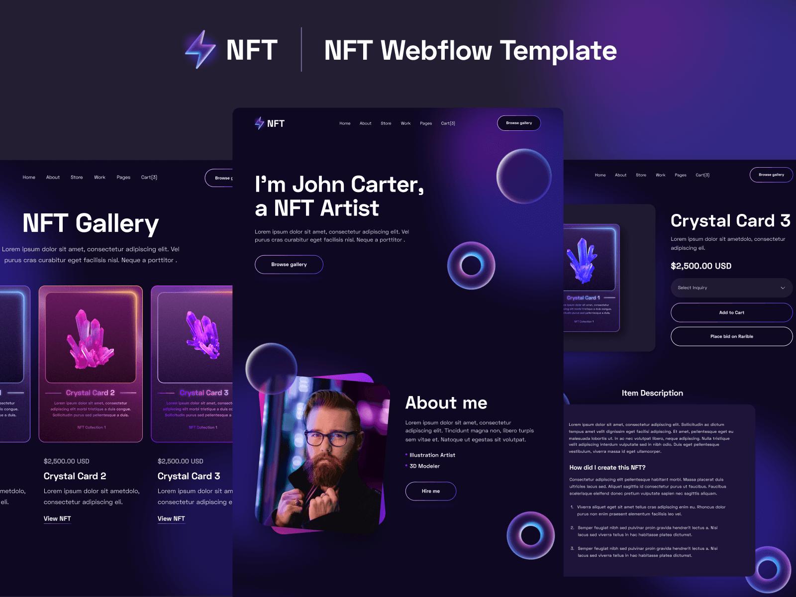 NFT Webflow Template