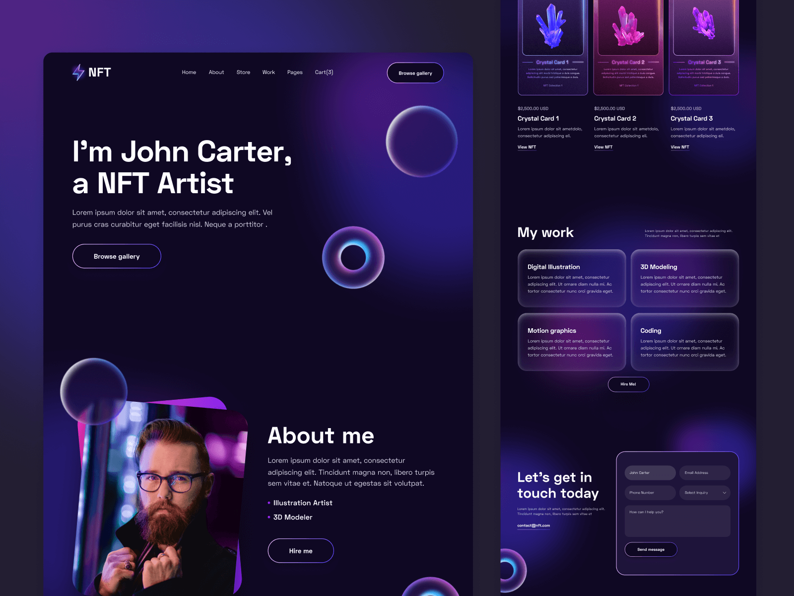 NFT Crypto Webflow Template