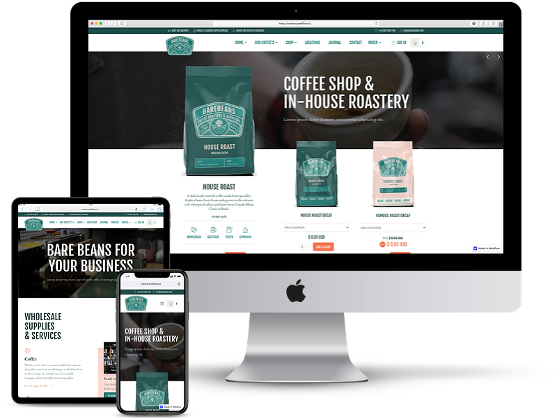 Coffee Shop Ecommerce Website Template
