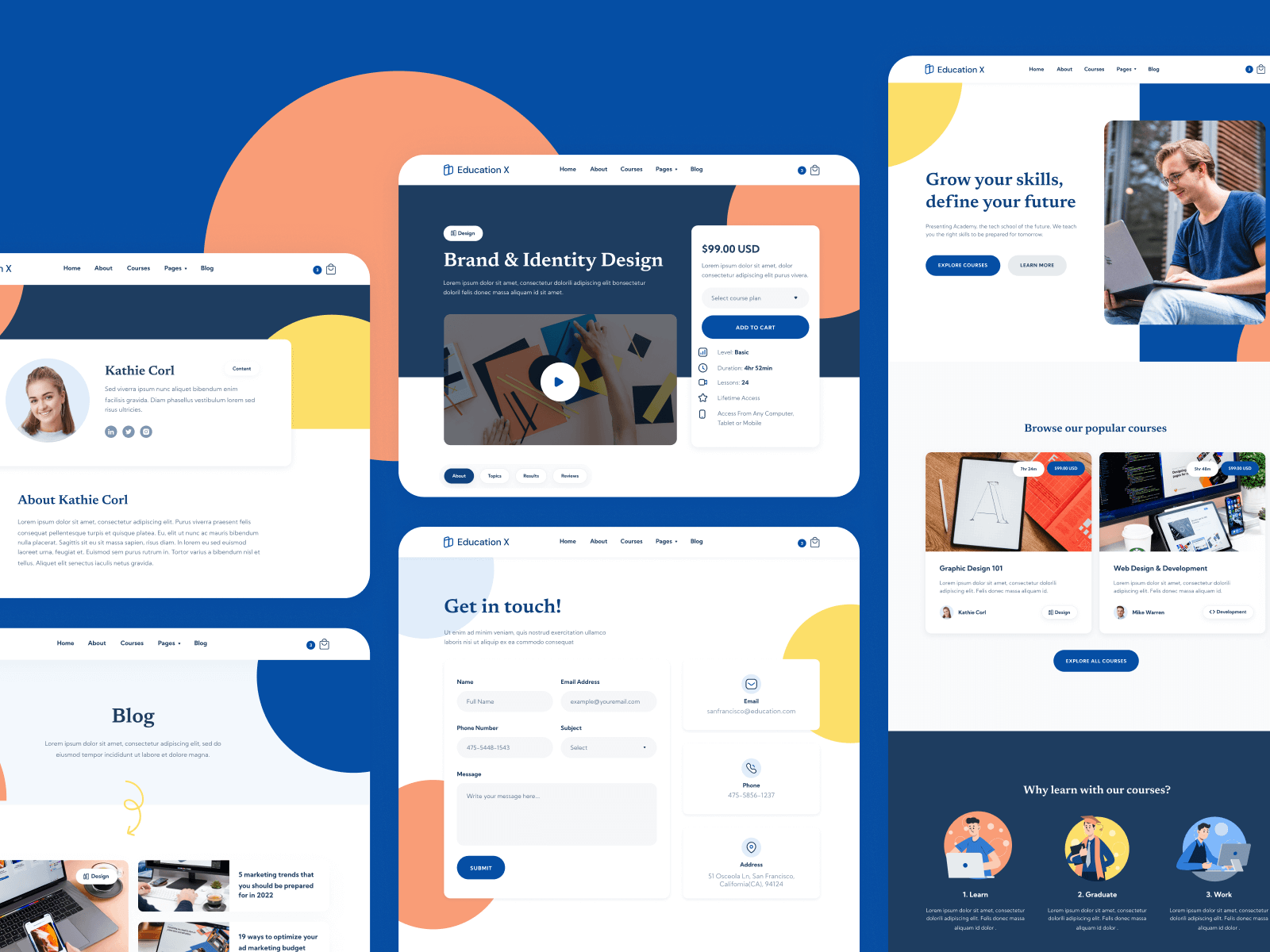 Education School Webflow Template