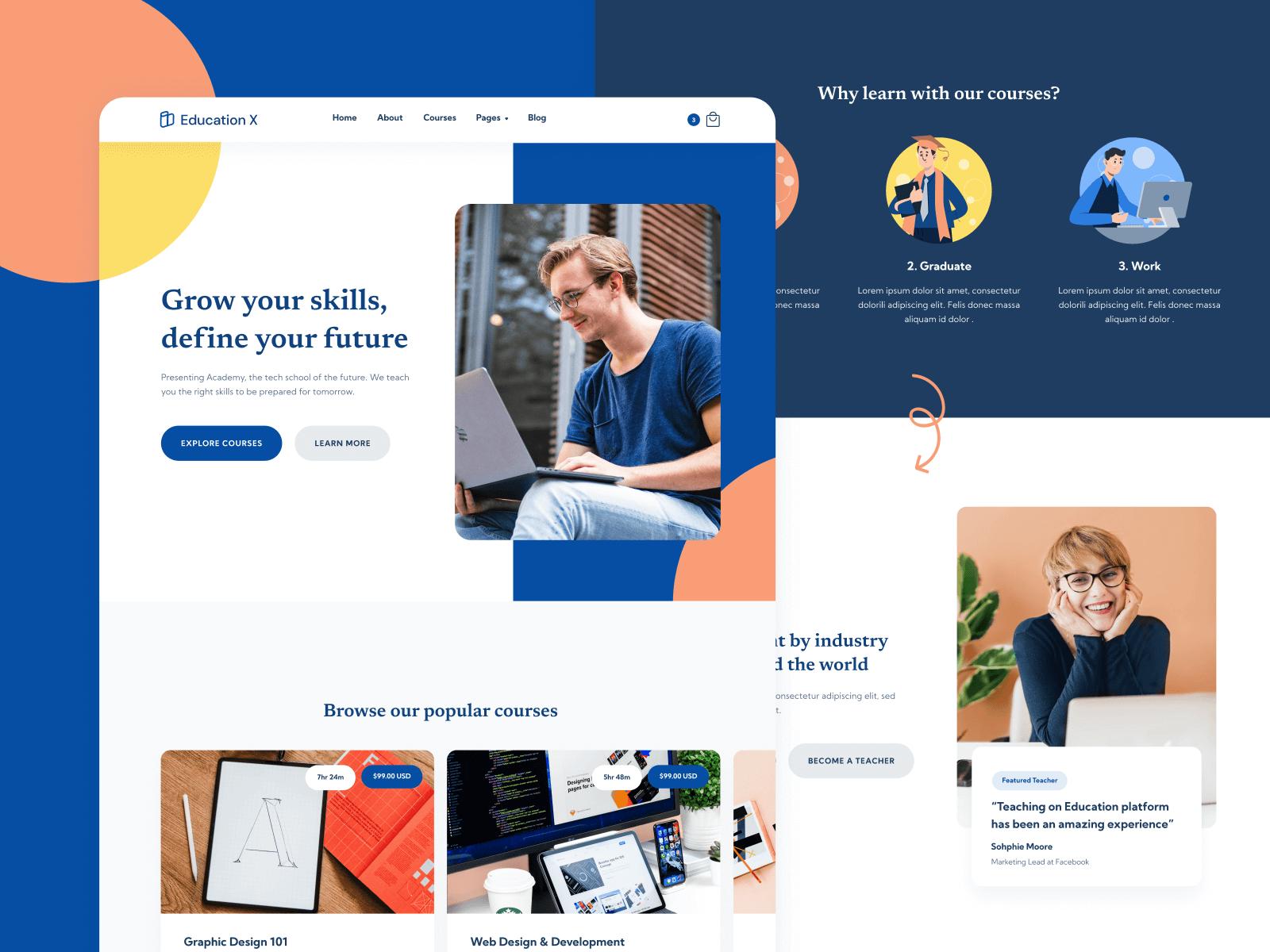 Education eLearning Webflow Template