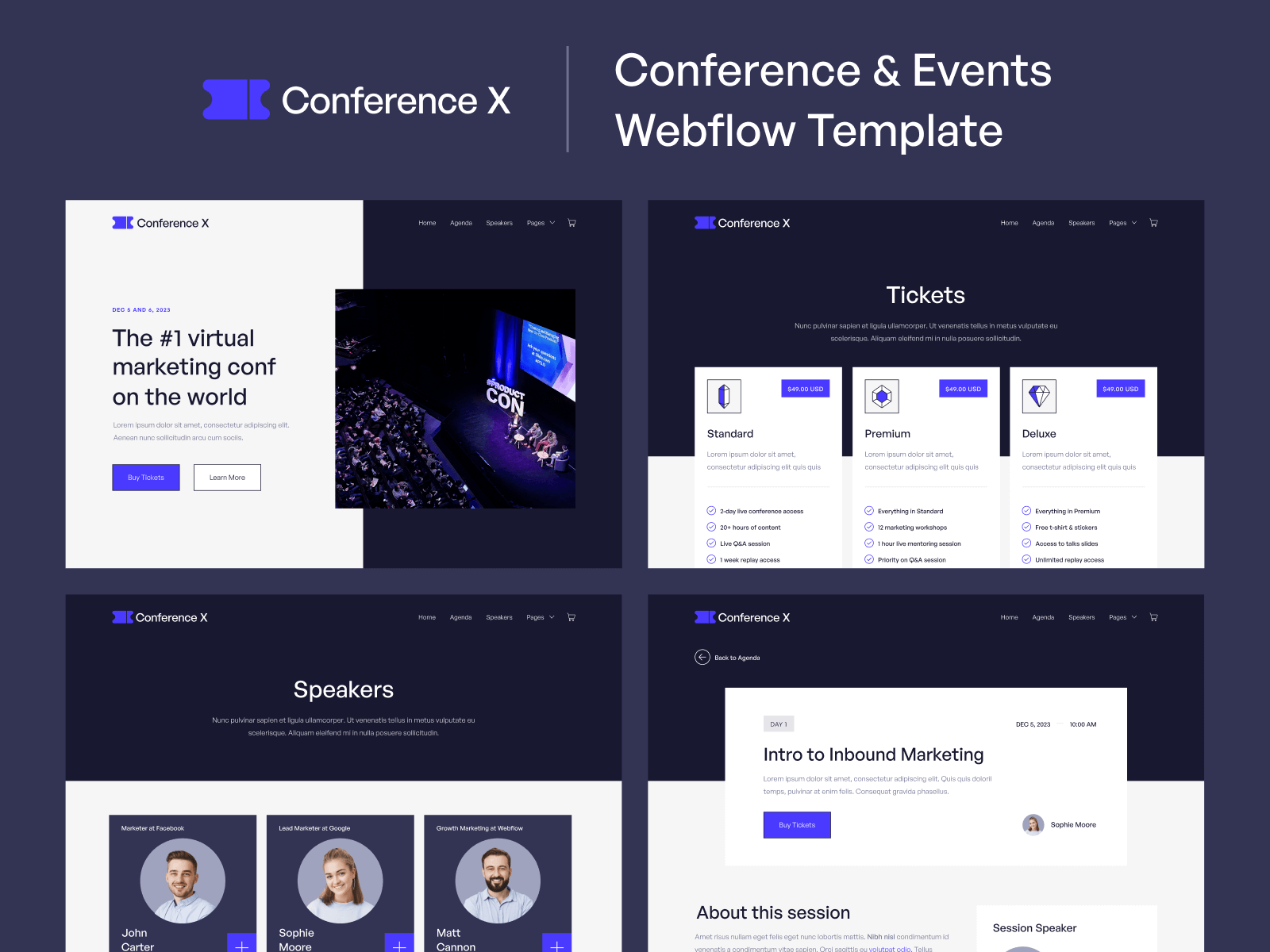 Conference Webflow Template