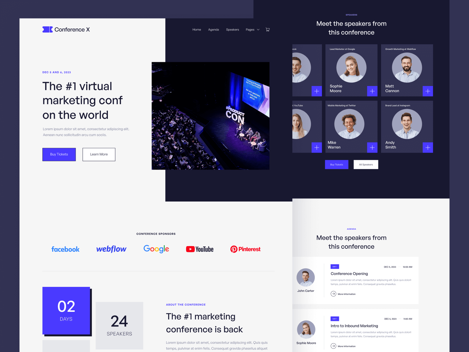 Event Conference Webflow Template