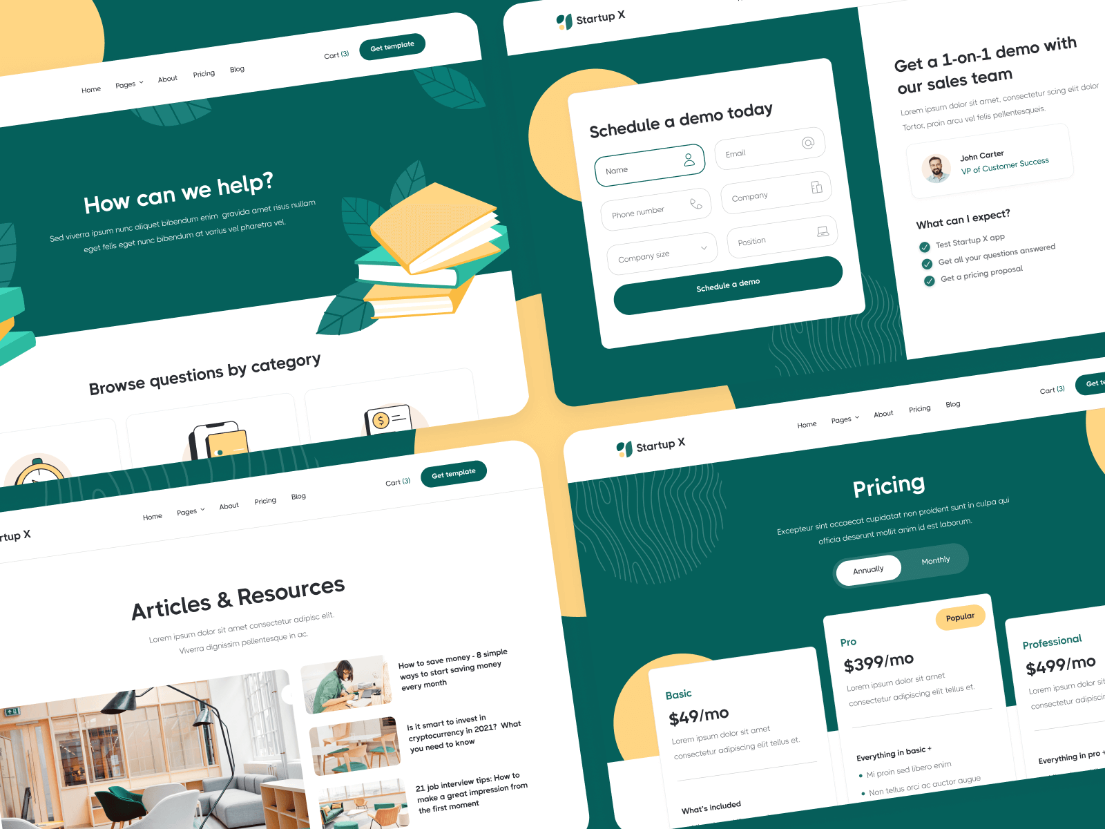 Modern Startup Webflow Template and UI Kit