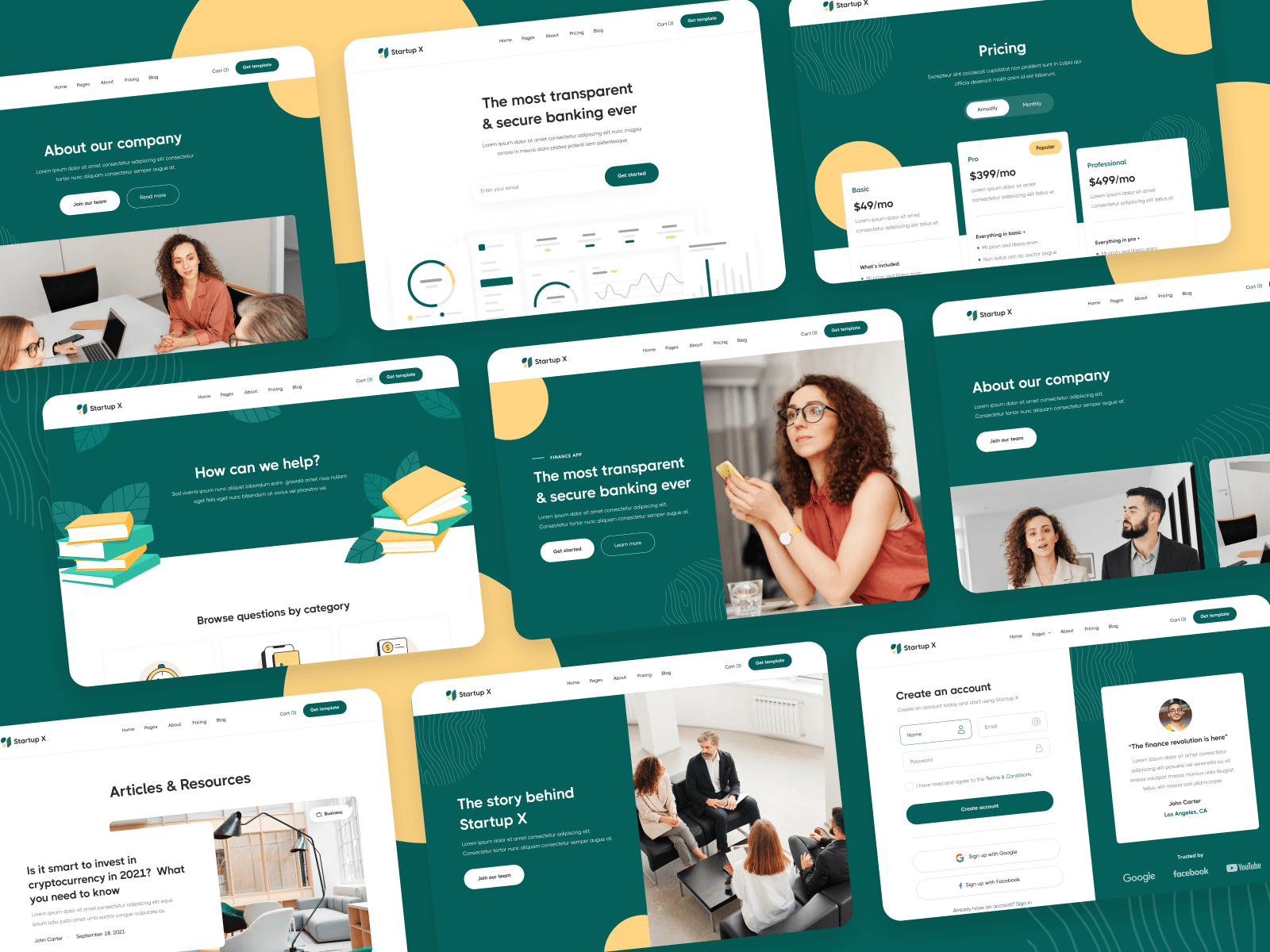 Modern Startup Webflow Template
