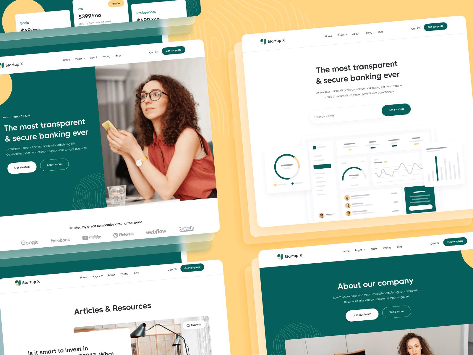 Multipurpose Startup Webflow Template