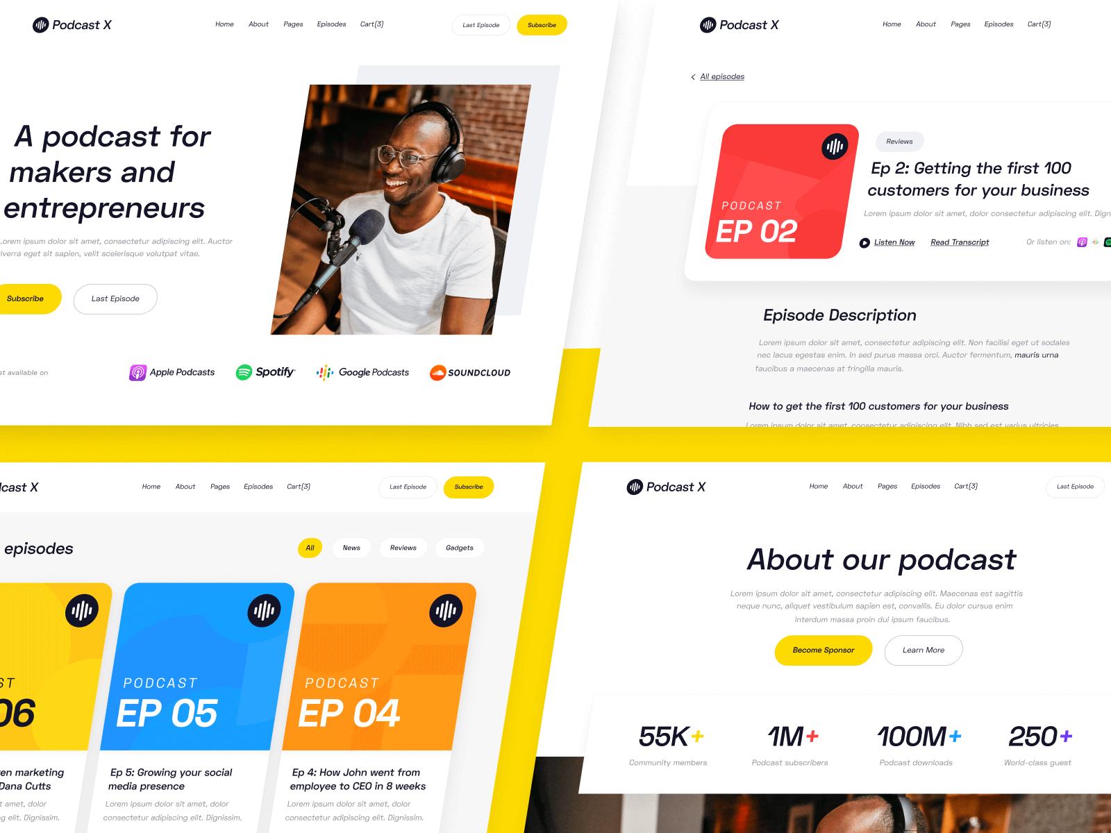 Podcast Webflow Theme