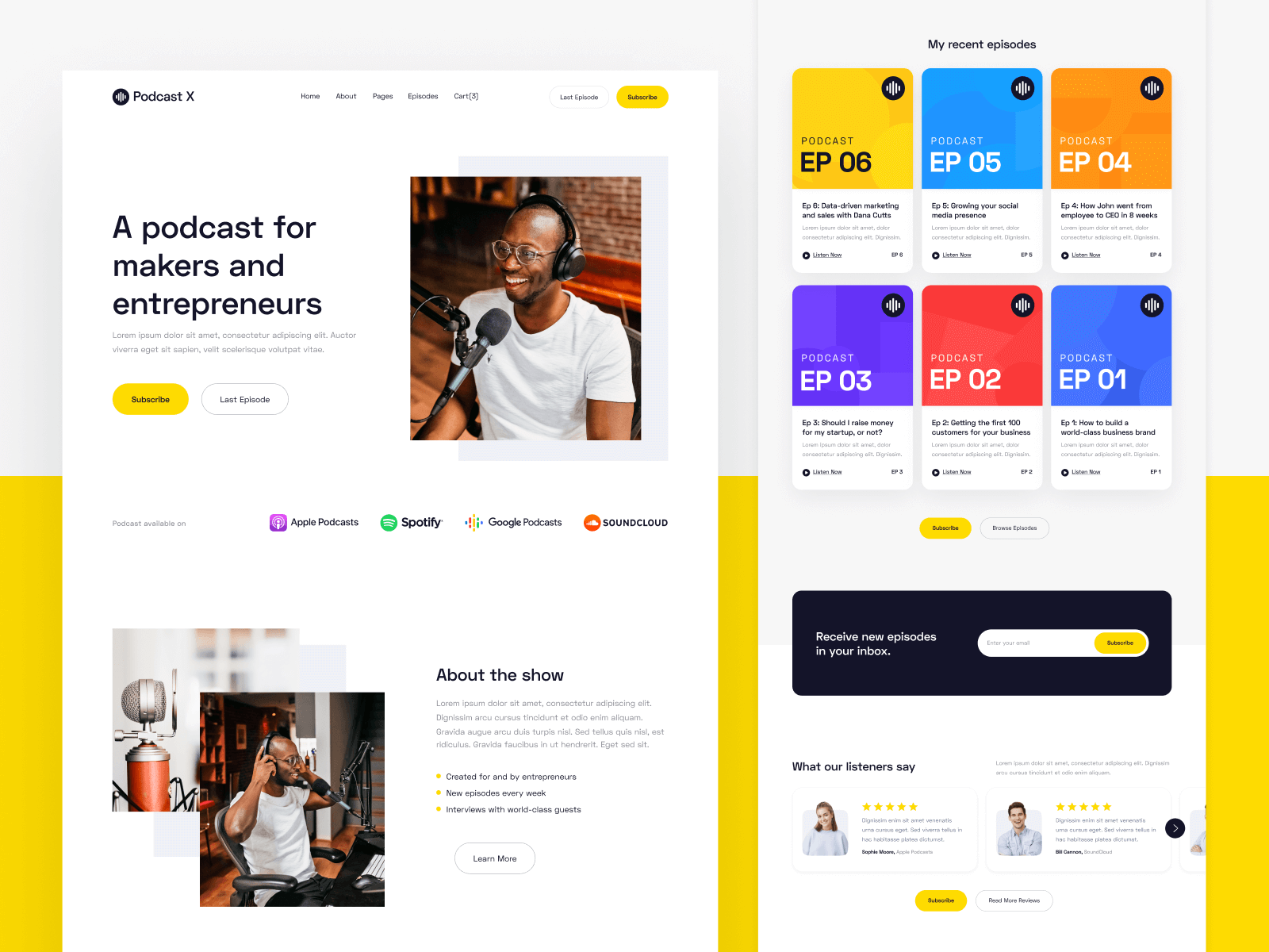 Podcast & Podcaster Webflow Template