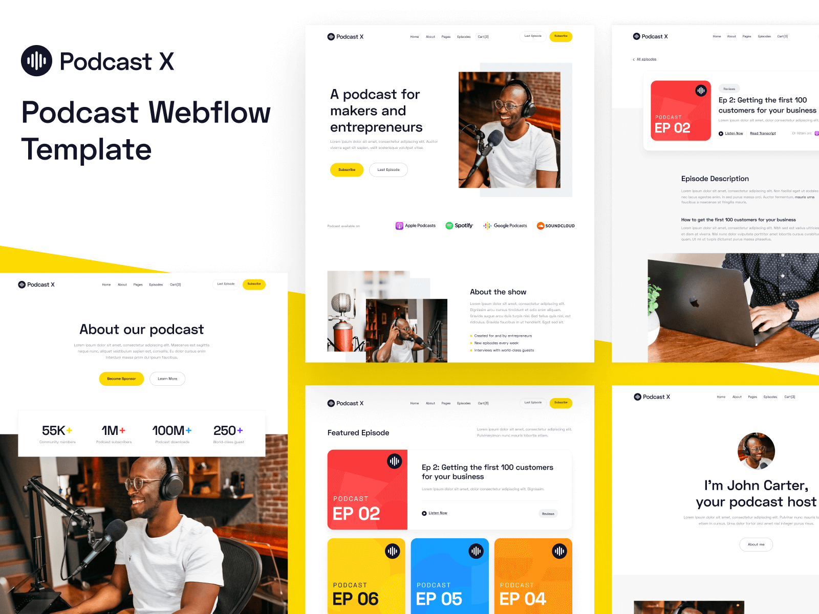 Podcast Webflow Template