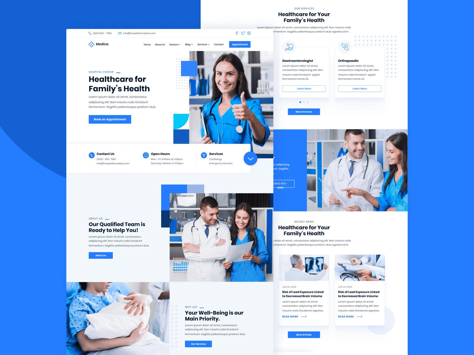 Doctors Webflow Template