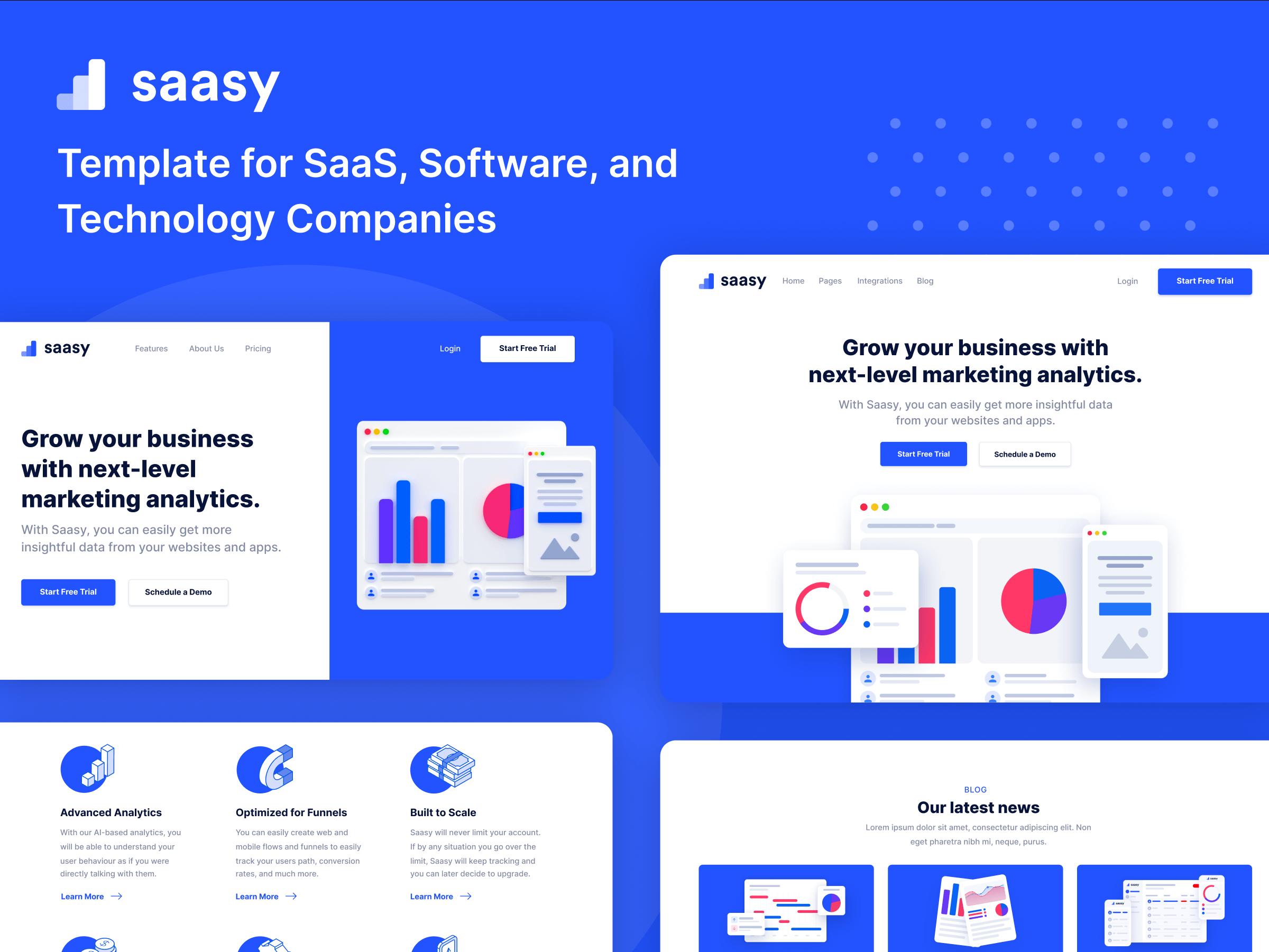 SaaS Startup Webflow Template