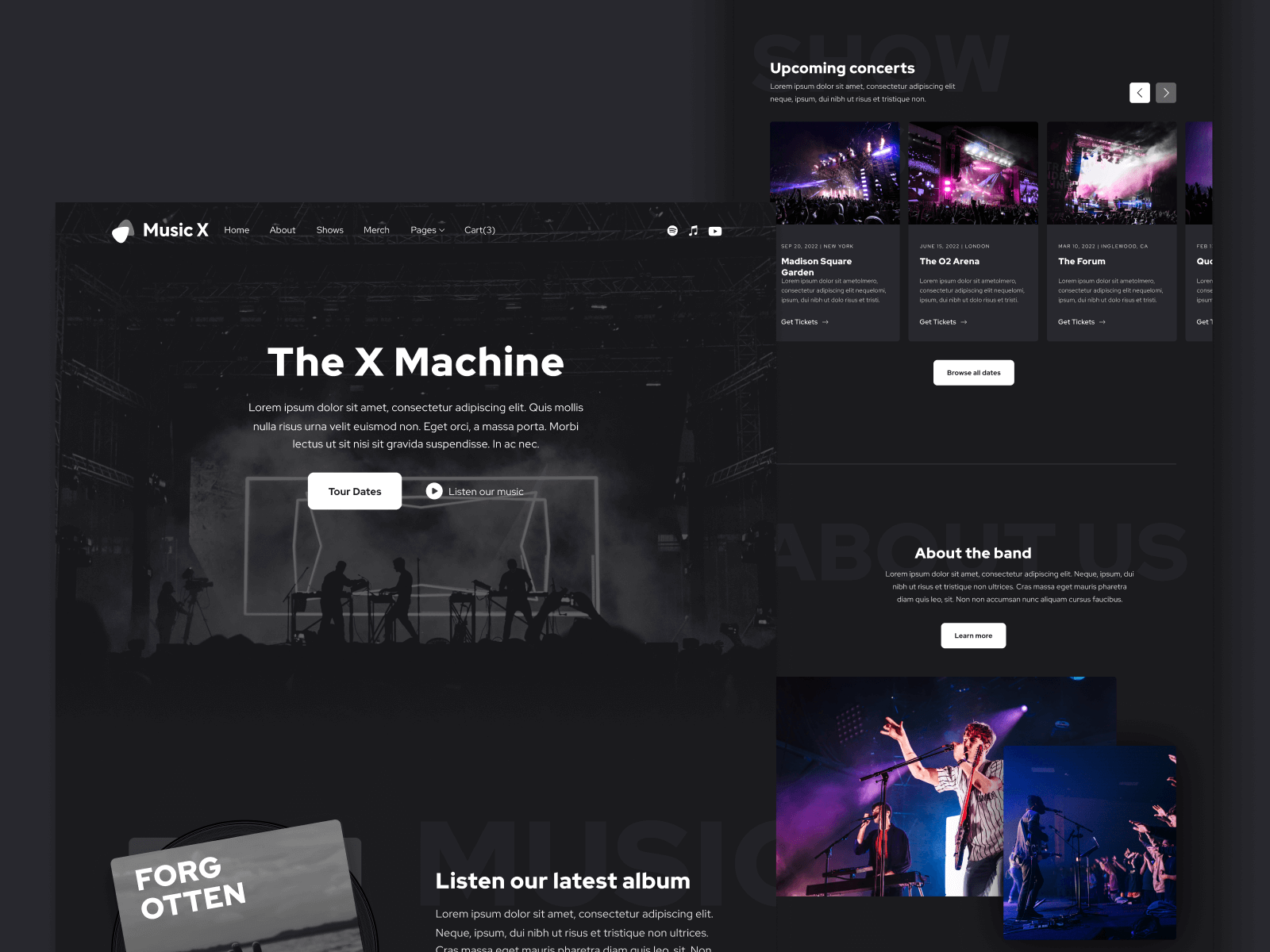 Music Band Webflow Template