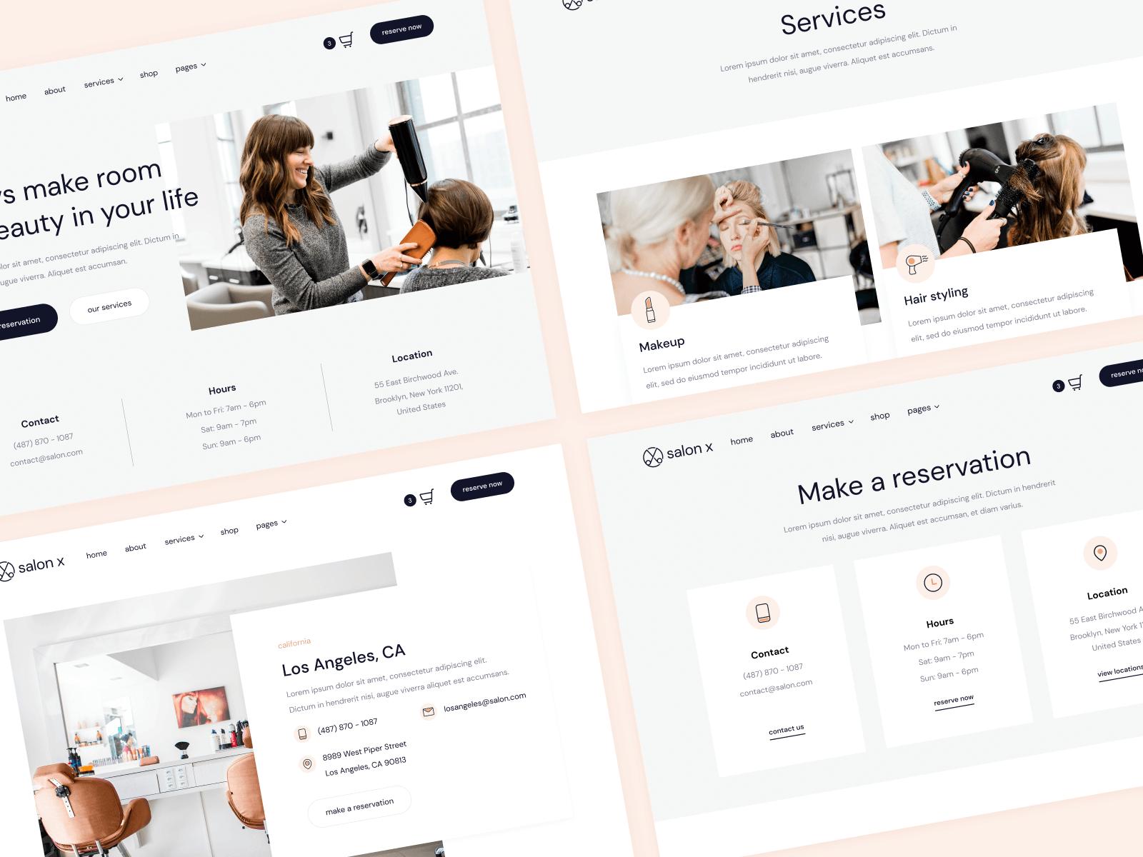 Salon Webflow Theme