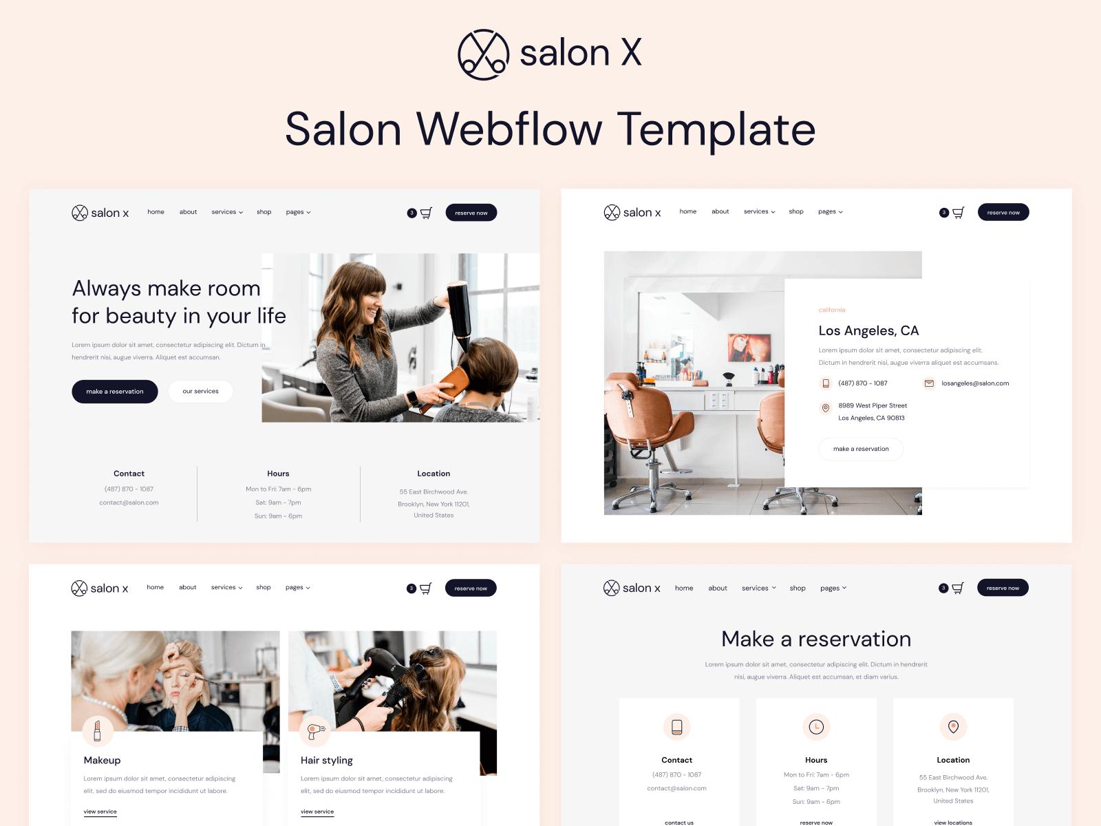 Salon Webflow Template