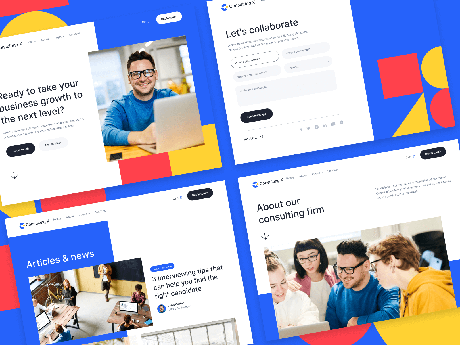 Business Consultant Webflow Template