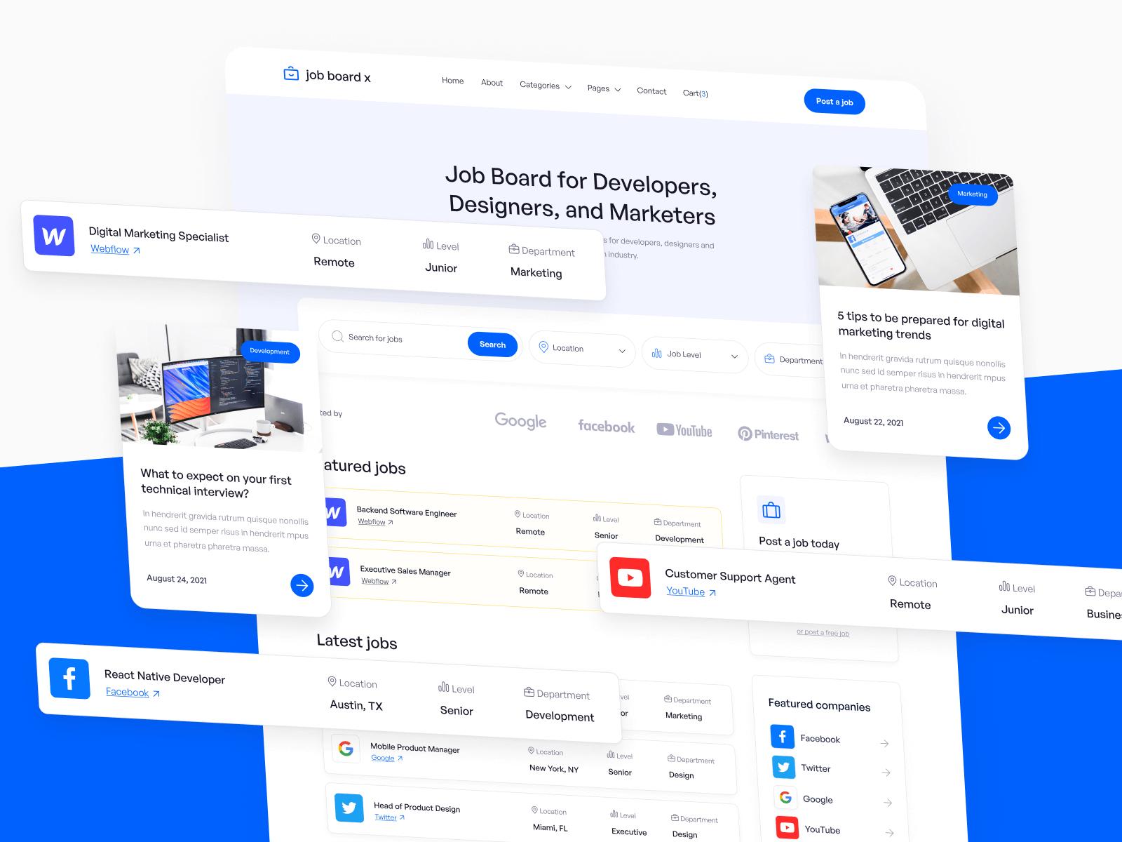 Job Board Webflow Theme