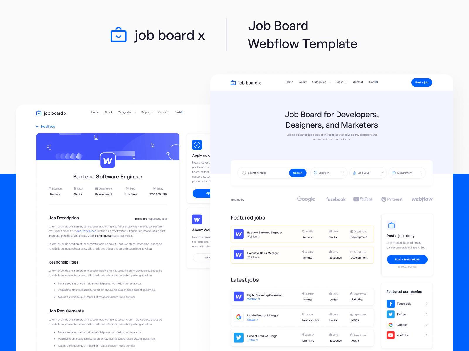 Job Board Webflow Website Template