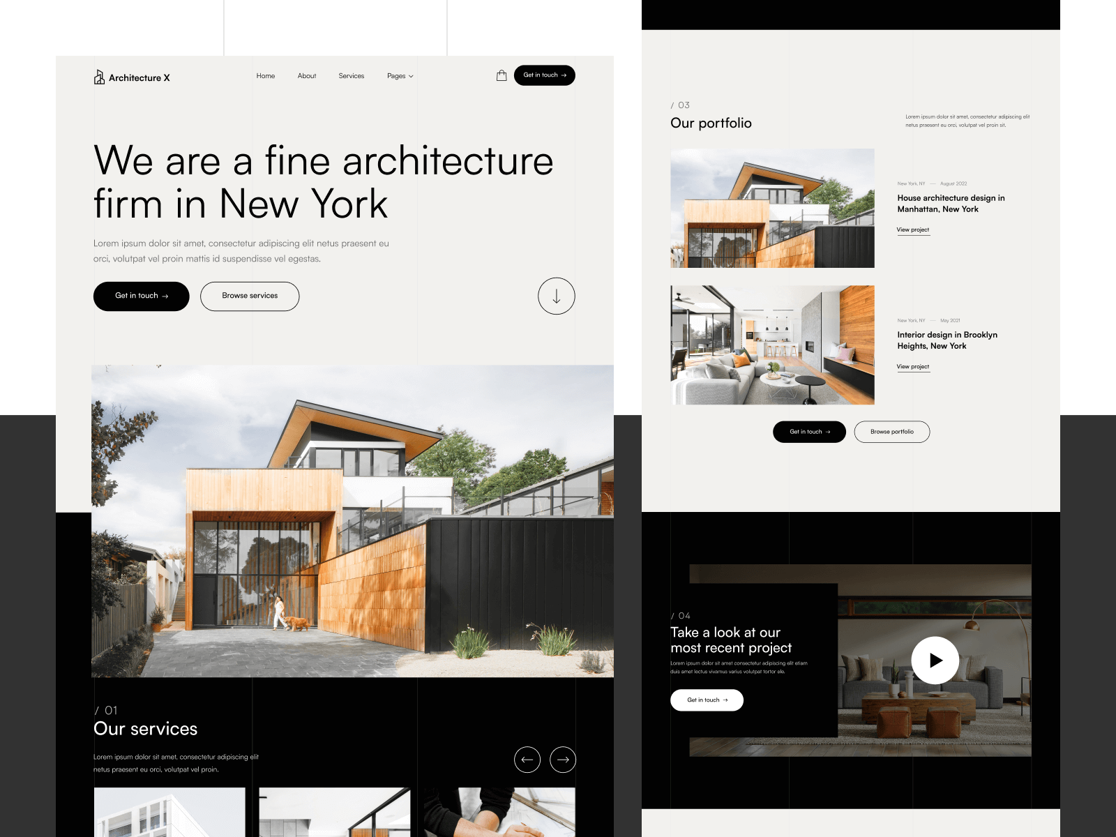Architecture Firm Webflow Template