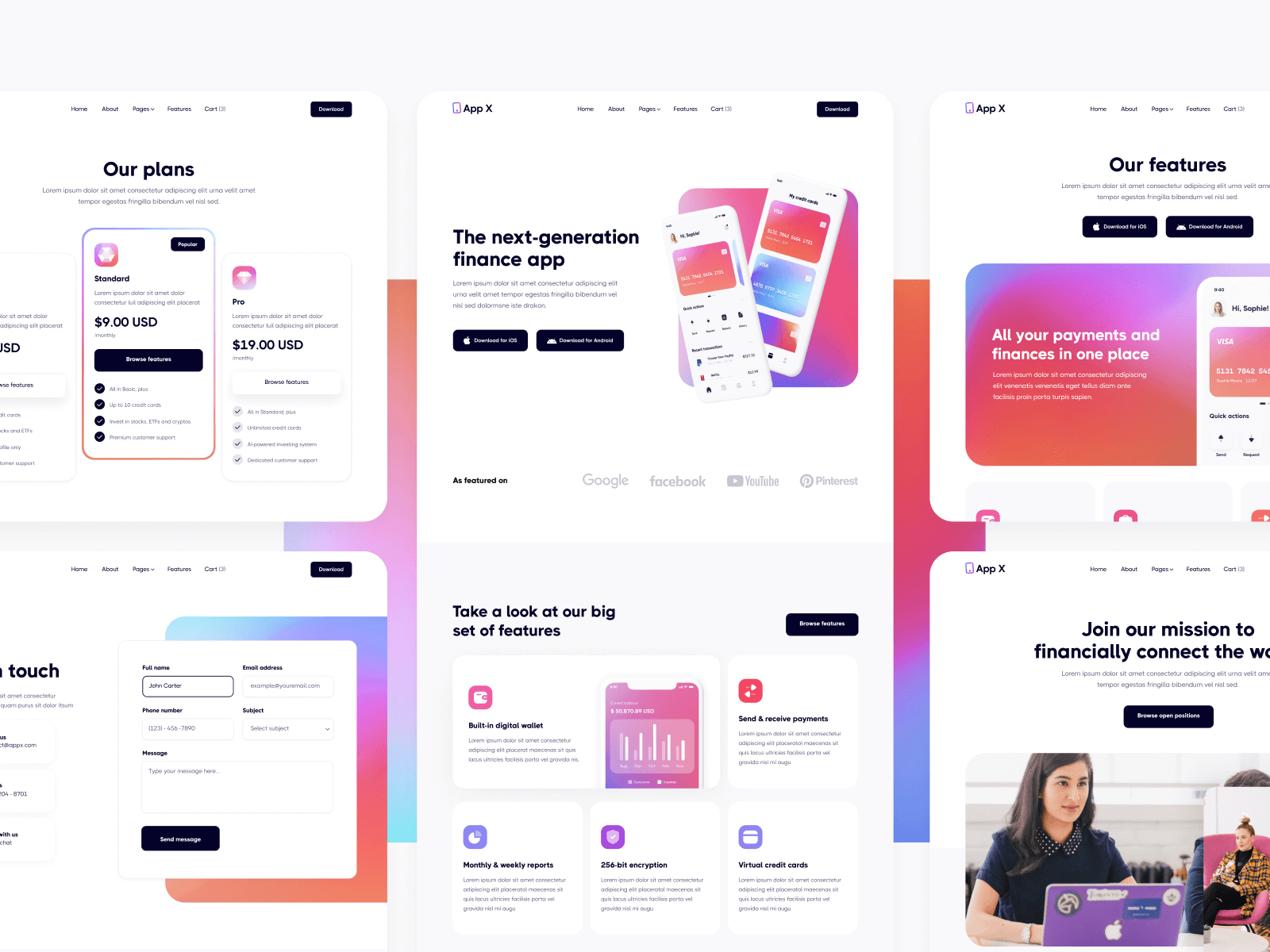 iOS Android Mobile Webflow Template