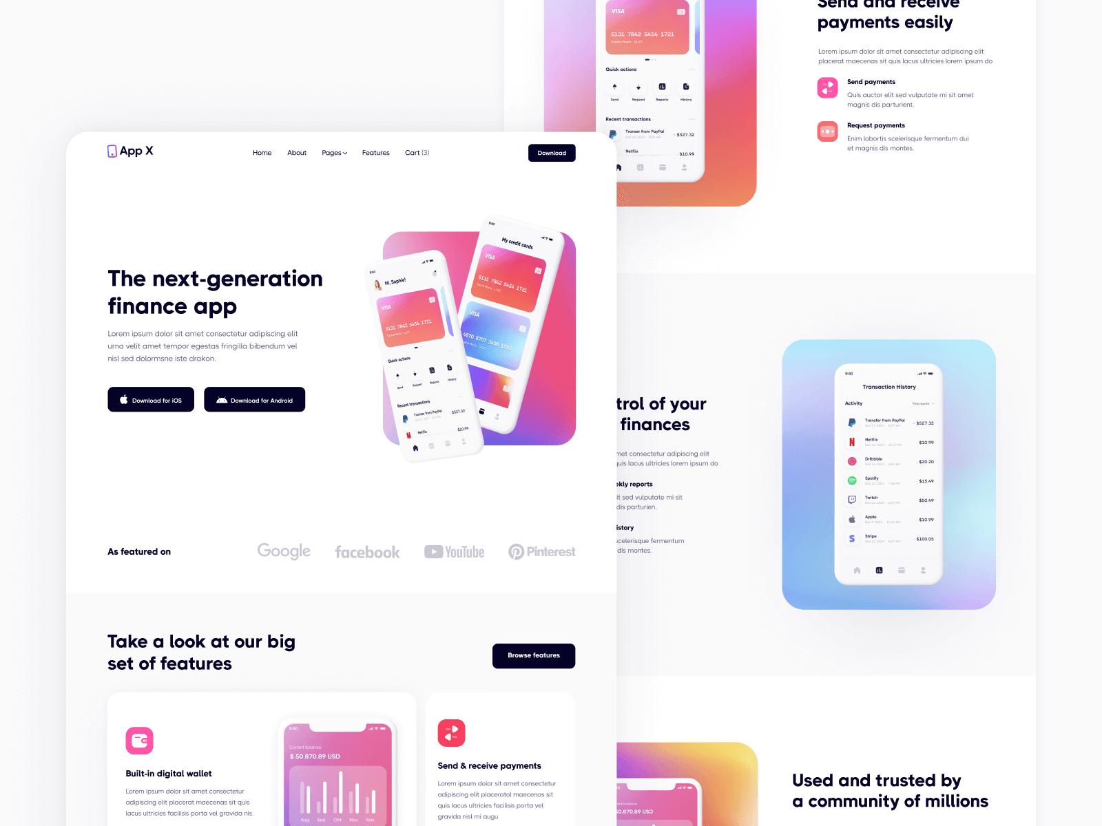 Mobile App Webflow Template