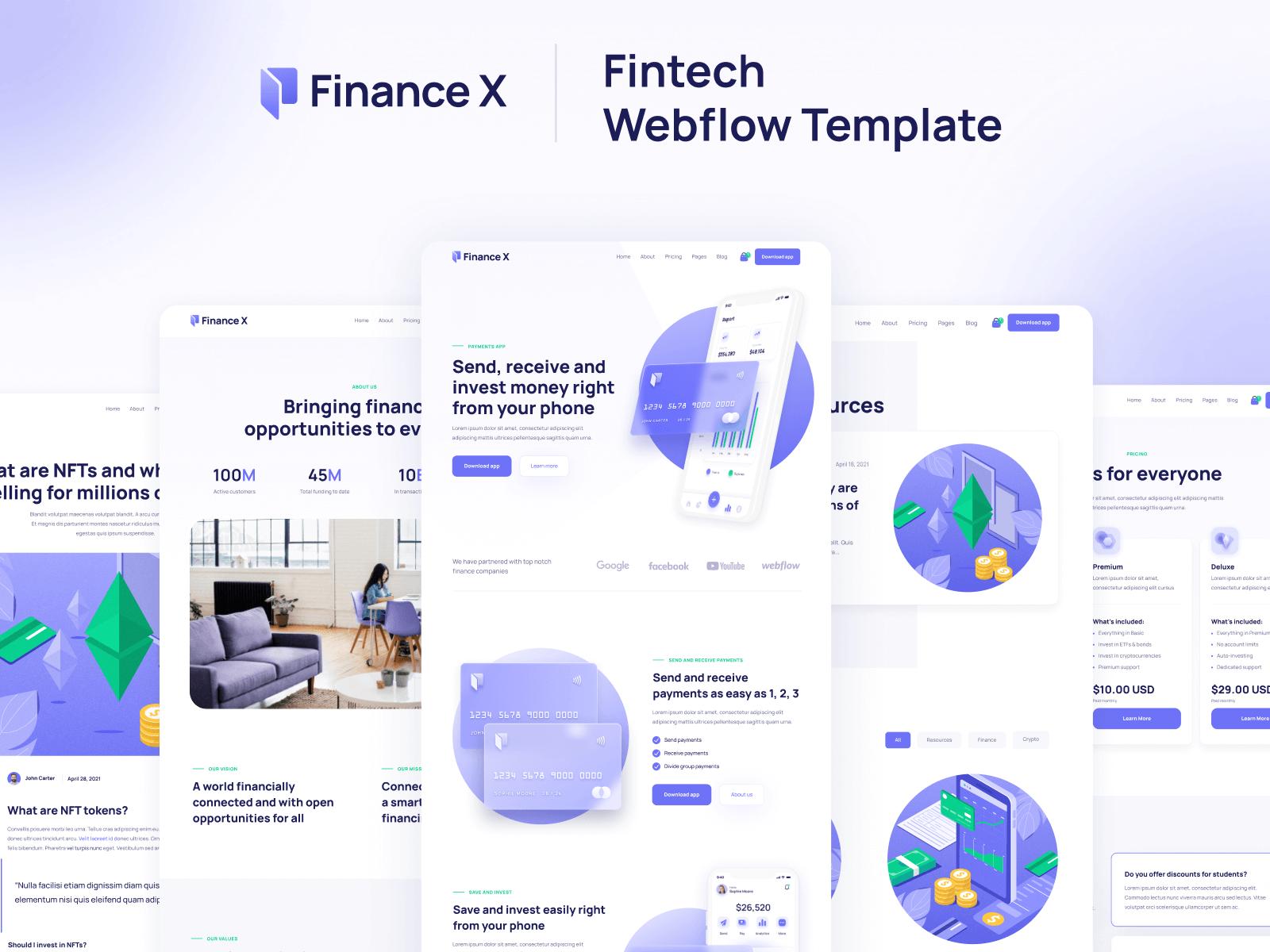 Fintech Webflow Template