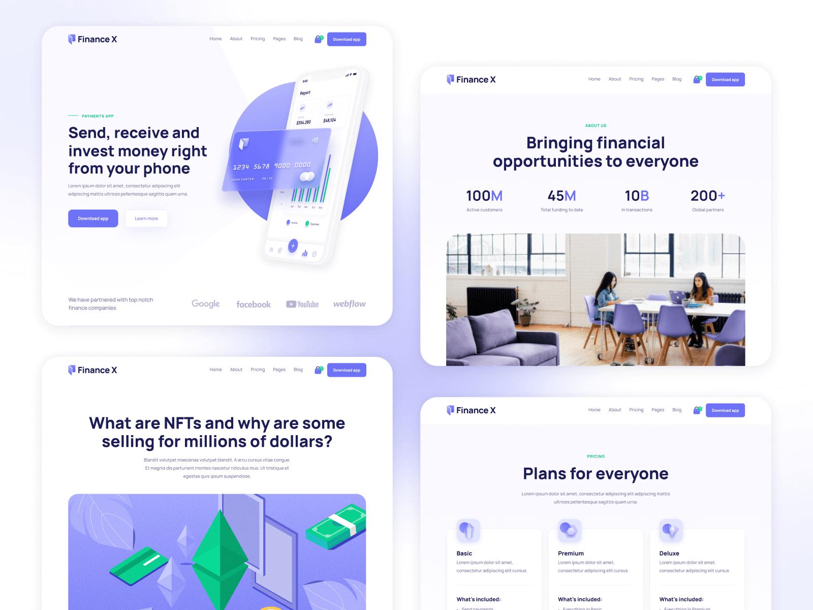 Finance Bank Webflow Template