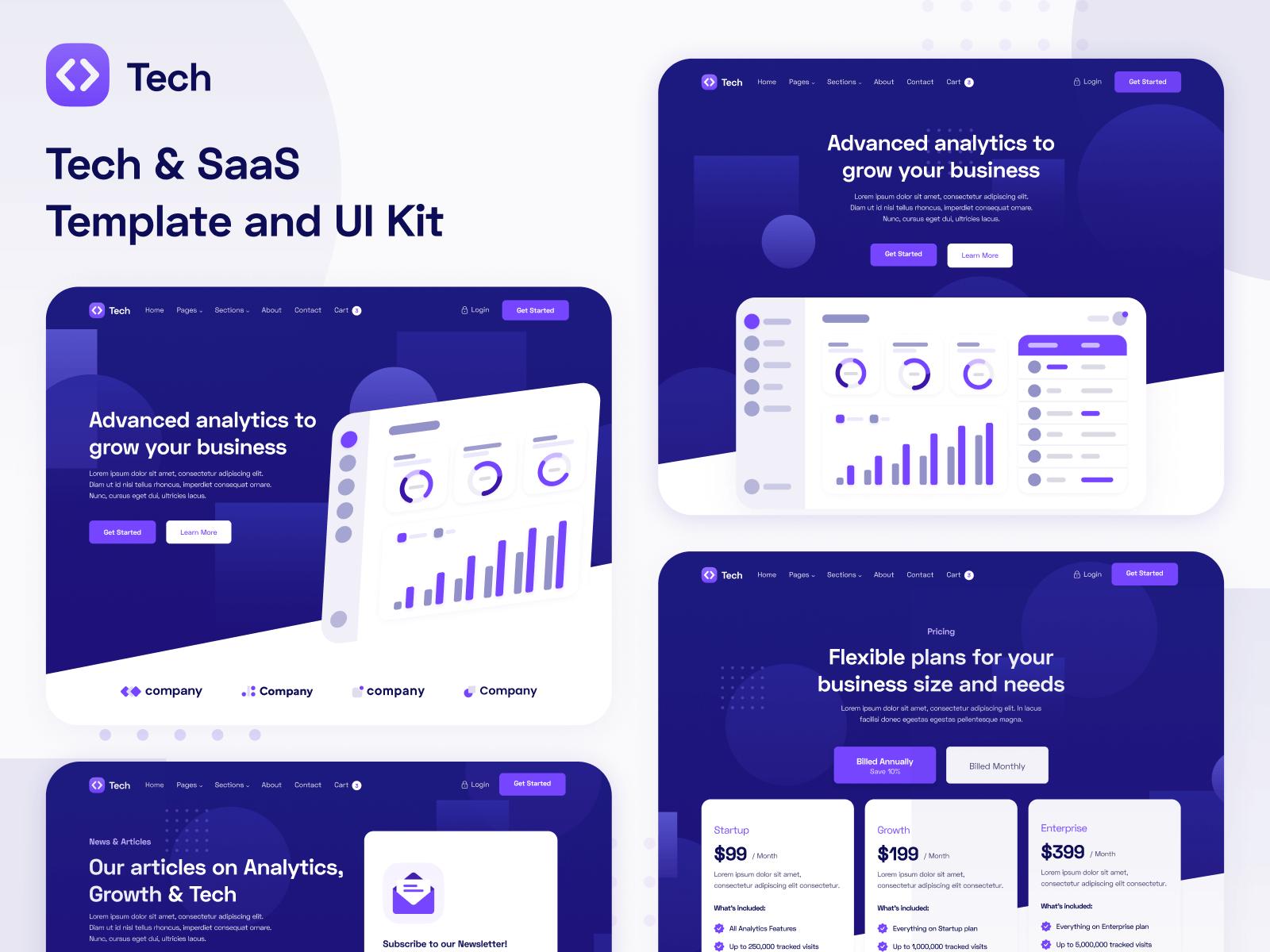 Tech & SaaS Webflow Template