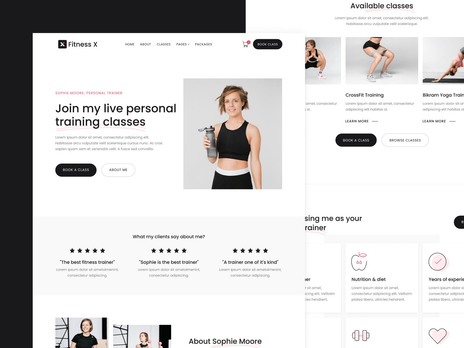 Fitness Coach Webflow Template