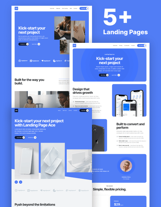Landing Page Ace