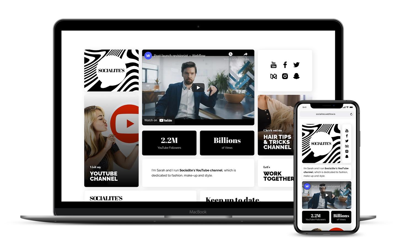 Social Creator Website Template
