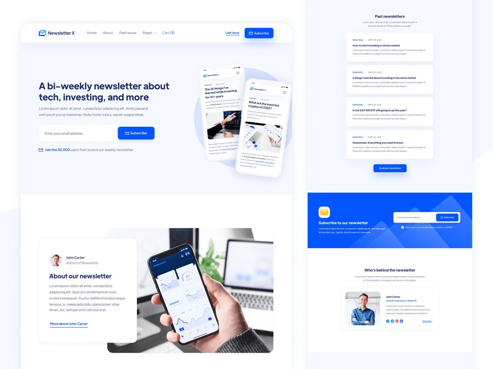 Email Newsletter Webflow Template
