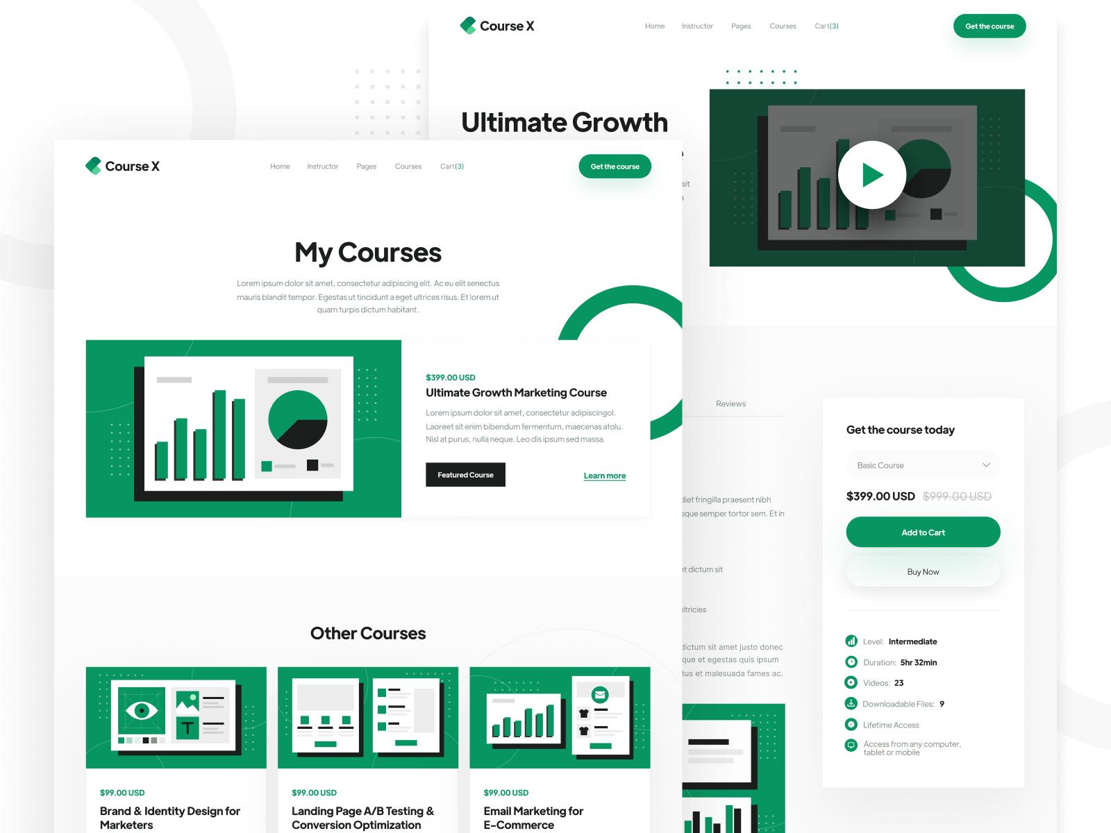School Course Webflow Template