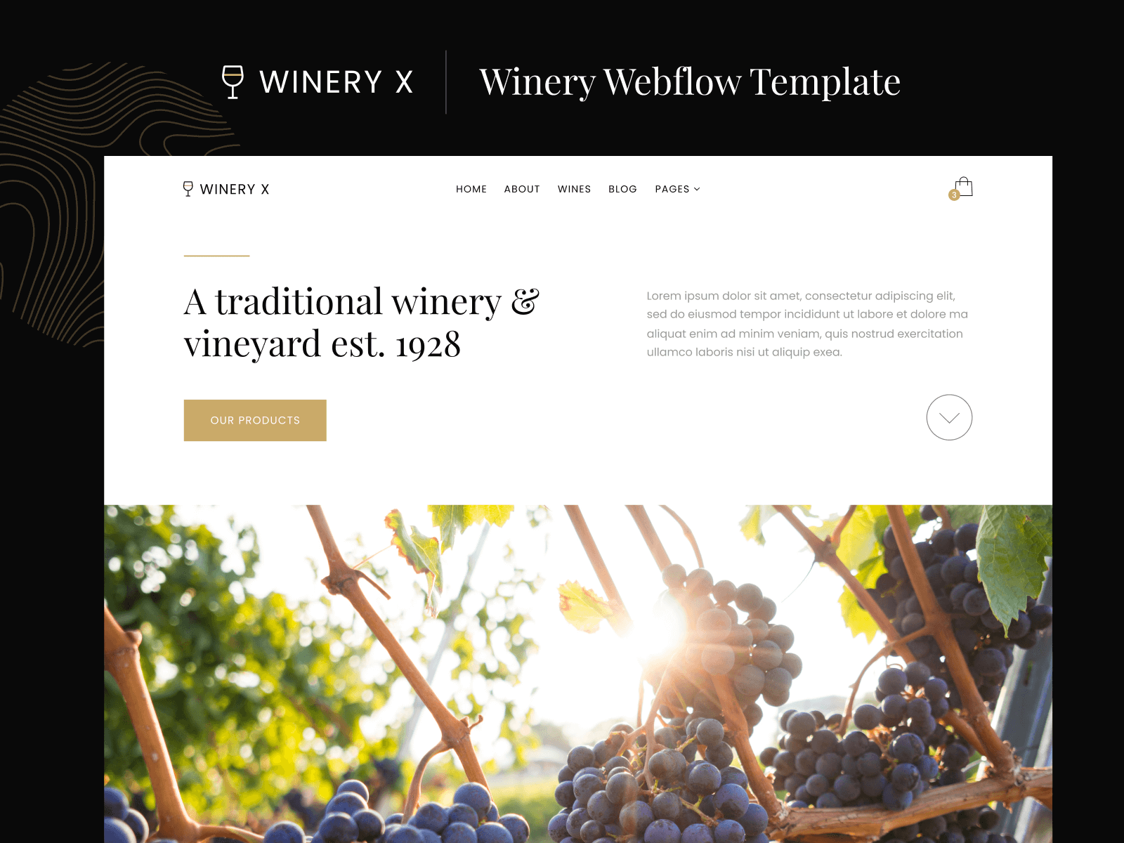 Winery Webflow Template