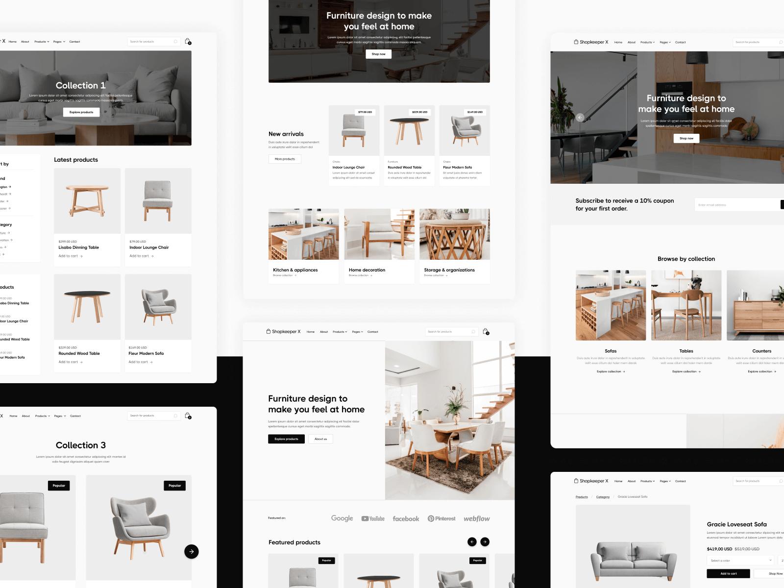 Ecommerce Shop Webflow Theme