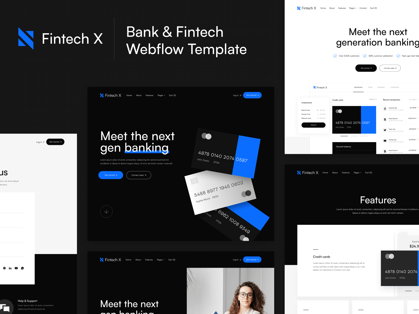 Finance & Fintech Webflow Template