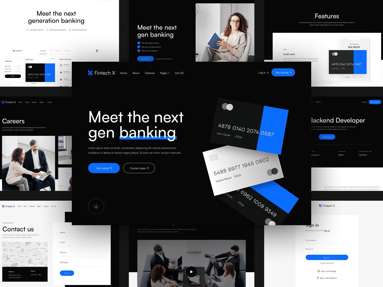 Financial Webflow Template