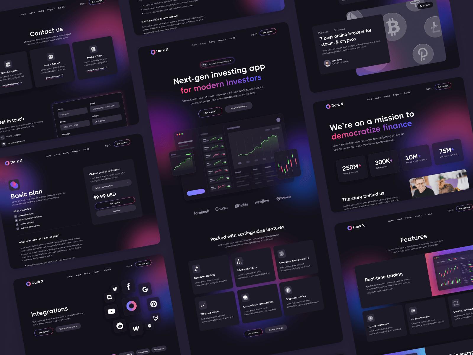 Dark Mode Tech Webflow Template